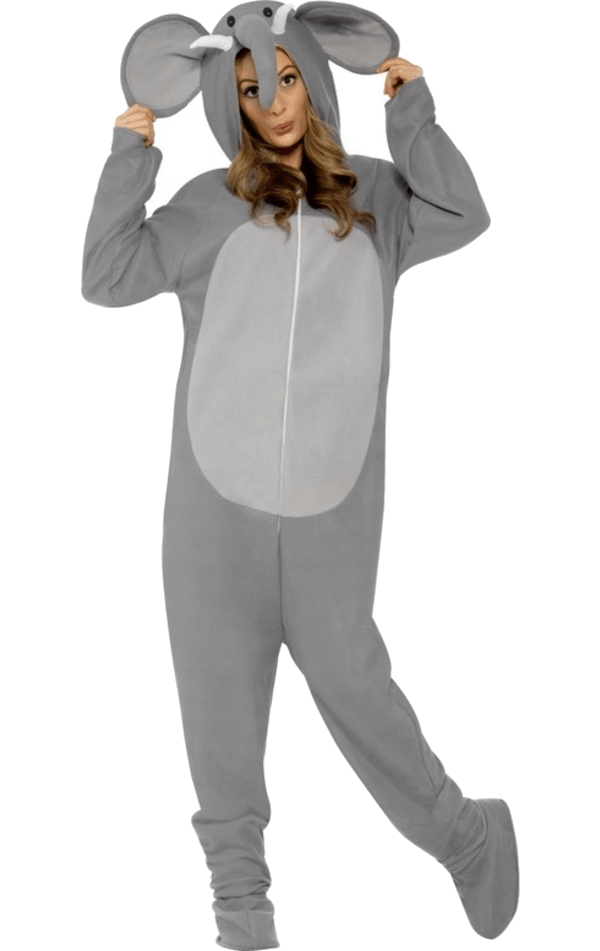 Adult Elephant Animal Onesie Costume