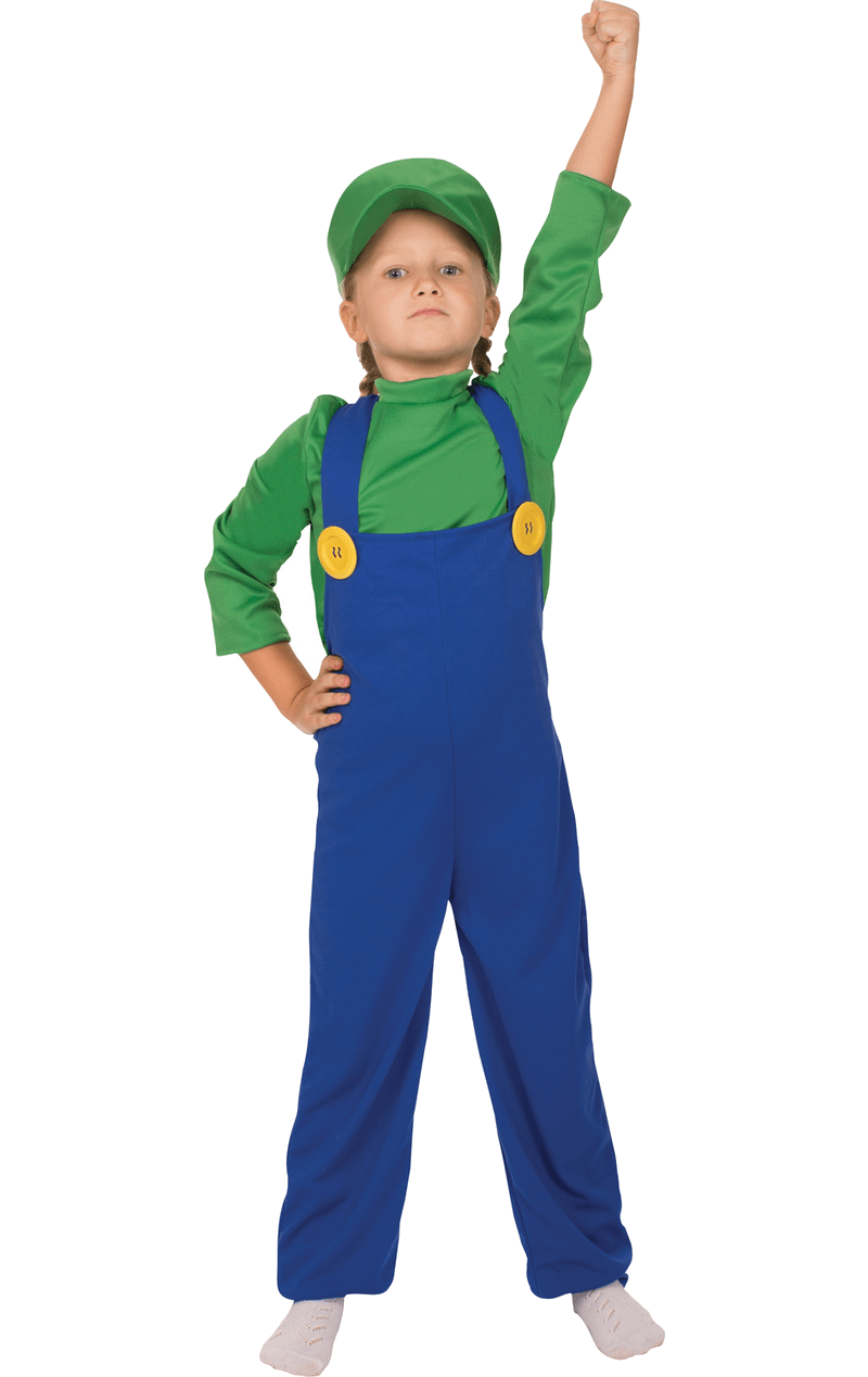 Kids Luigi Super Mario Costume