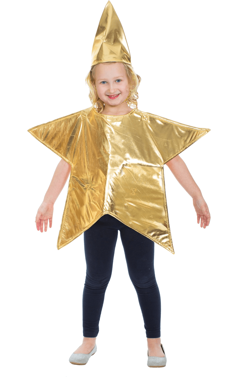 Kids Gold Star Christmas Costume