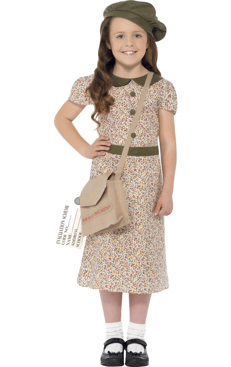 Girls Flower Evacuee Costume