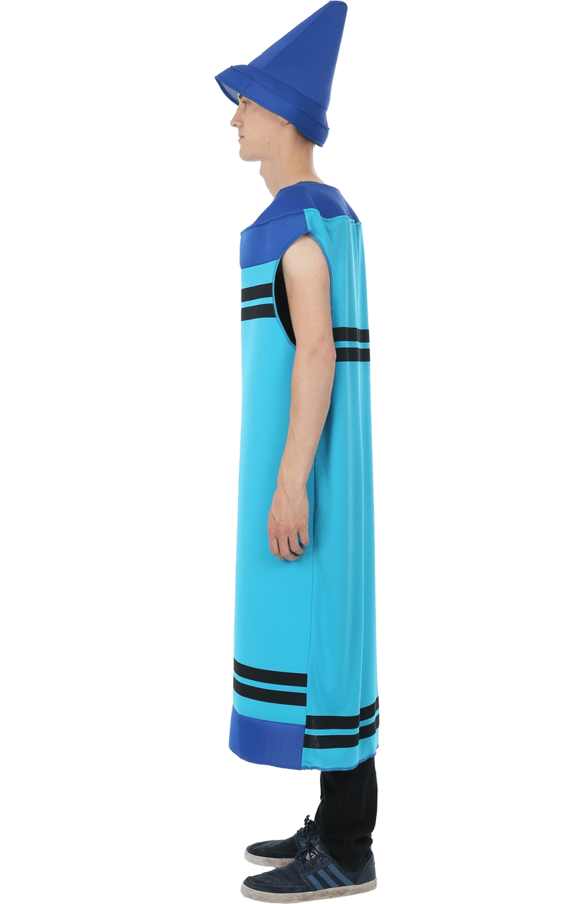 Mens Blue Crayon Costume