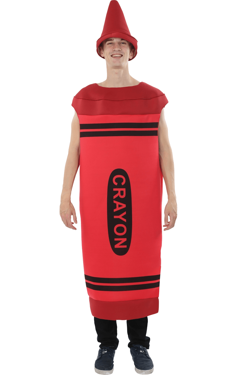 Mens Red Crayon Costume