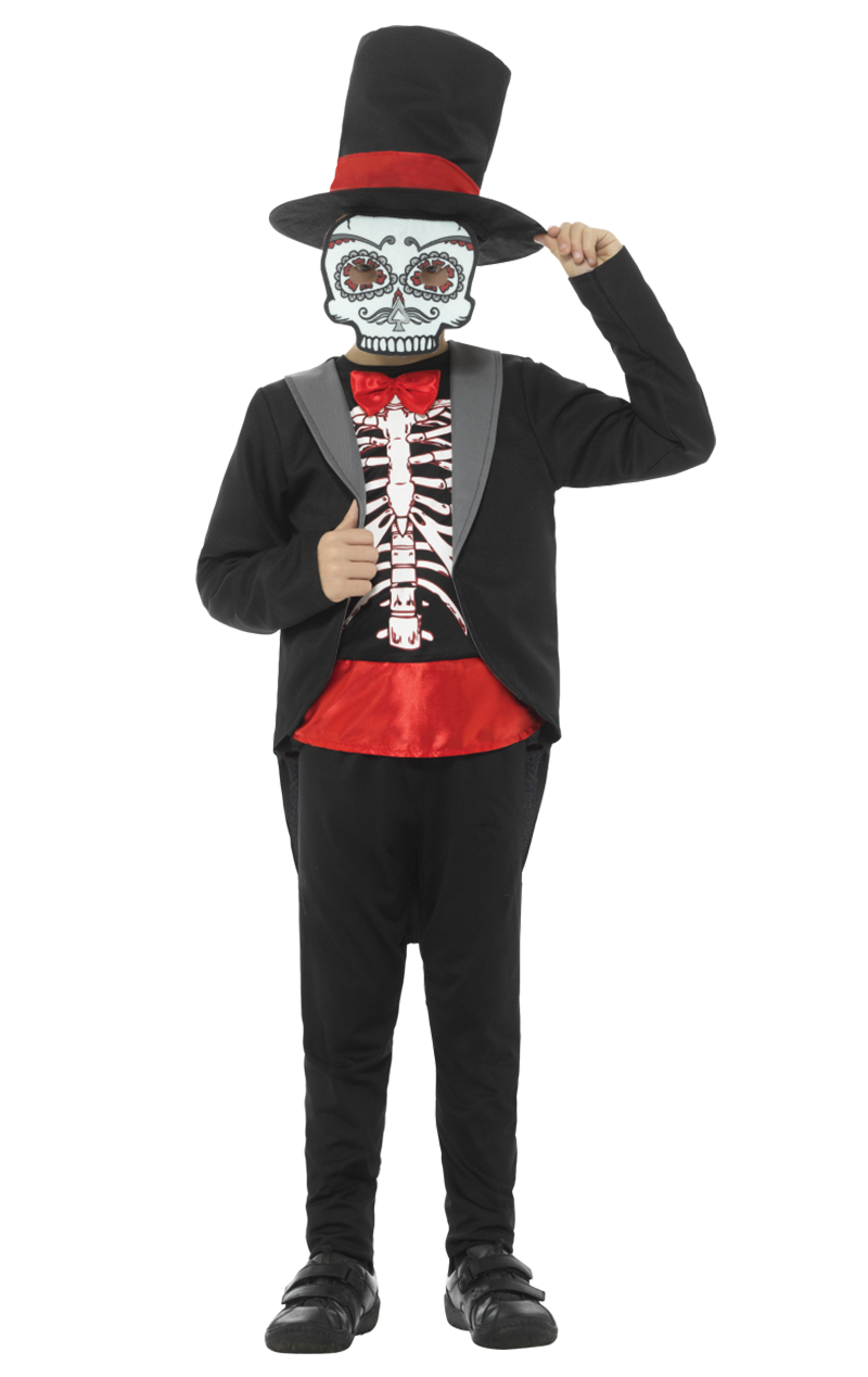 Boys Day of the Dead Suit Costume