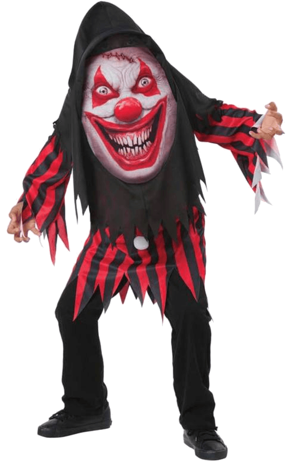 Kids Bad Clown Creeper Fancy Dress