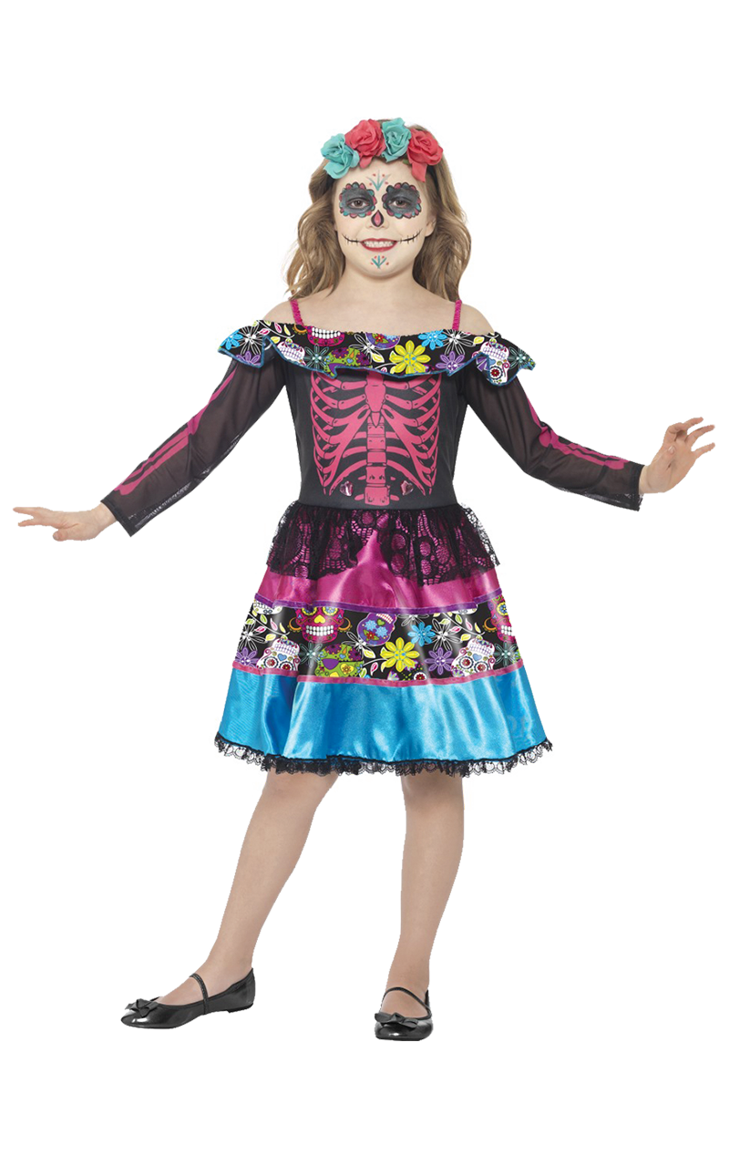 Kids Day of the Dead Sweetheart Costume