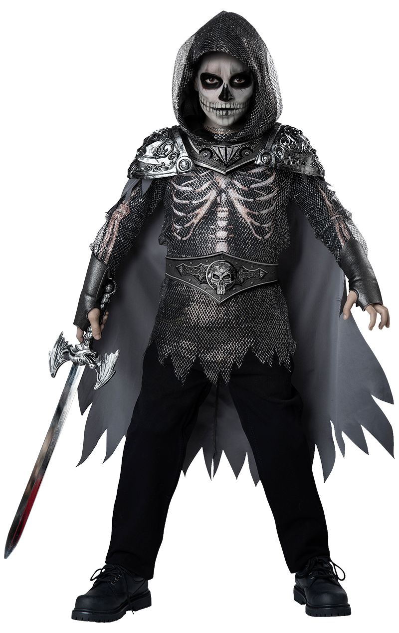 Boys Skull Knight Halloween Costume
