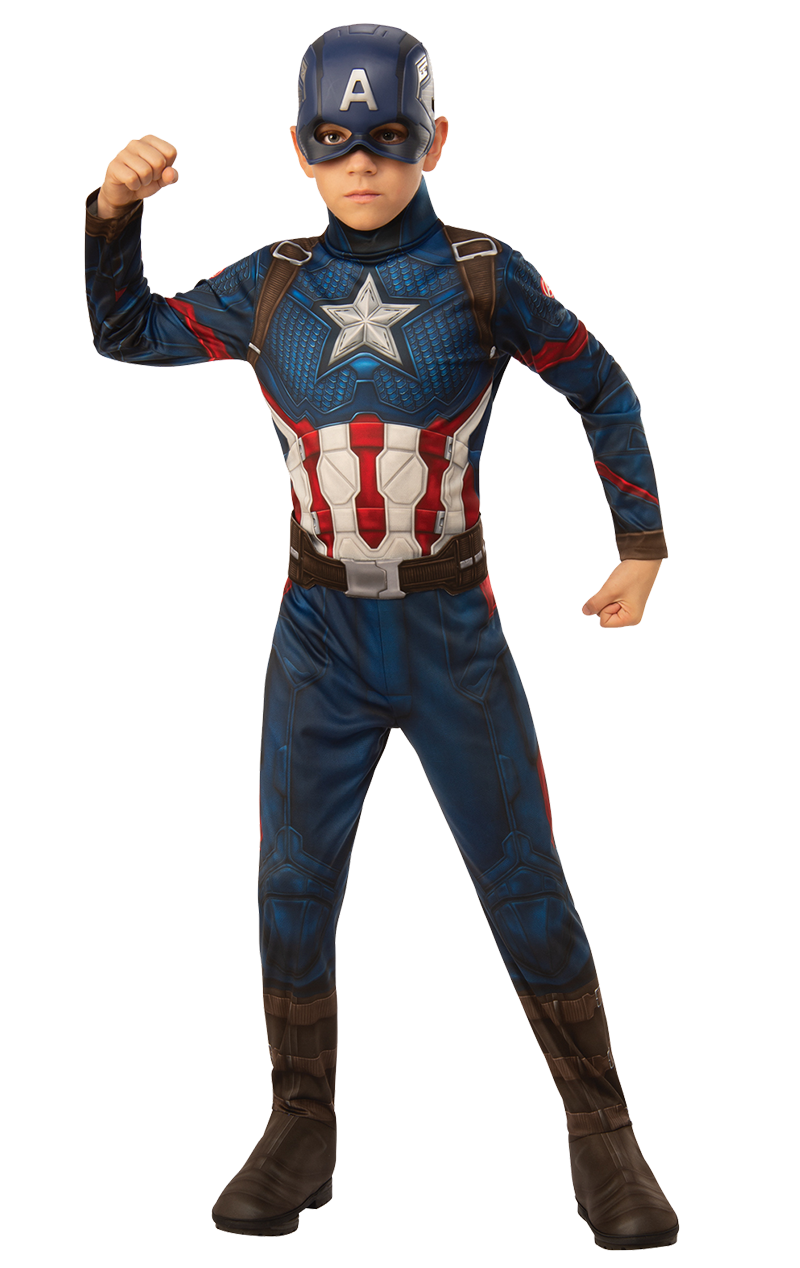 Boys Captain America Endgame Costume