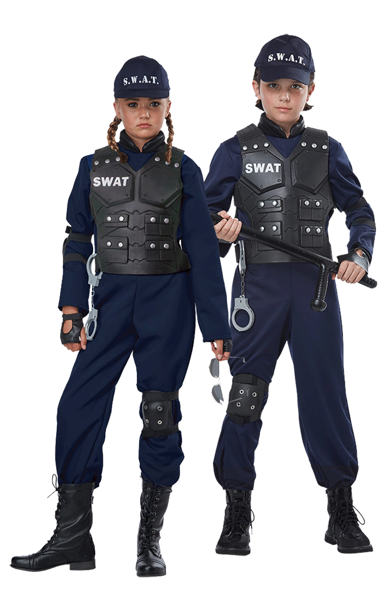 Kids SWAT Police Costume