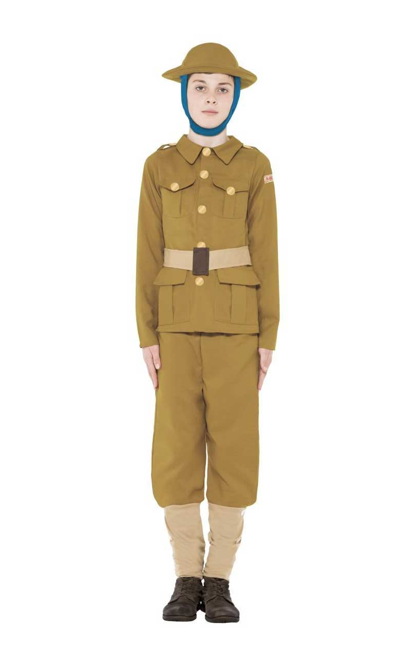 Child Horrible Histories WW1 Boy Costume