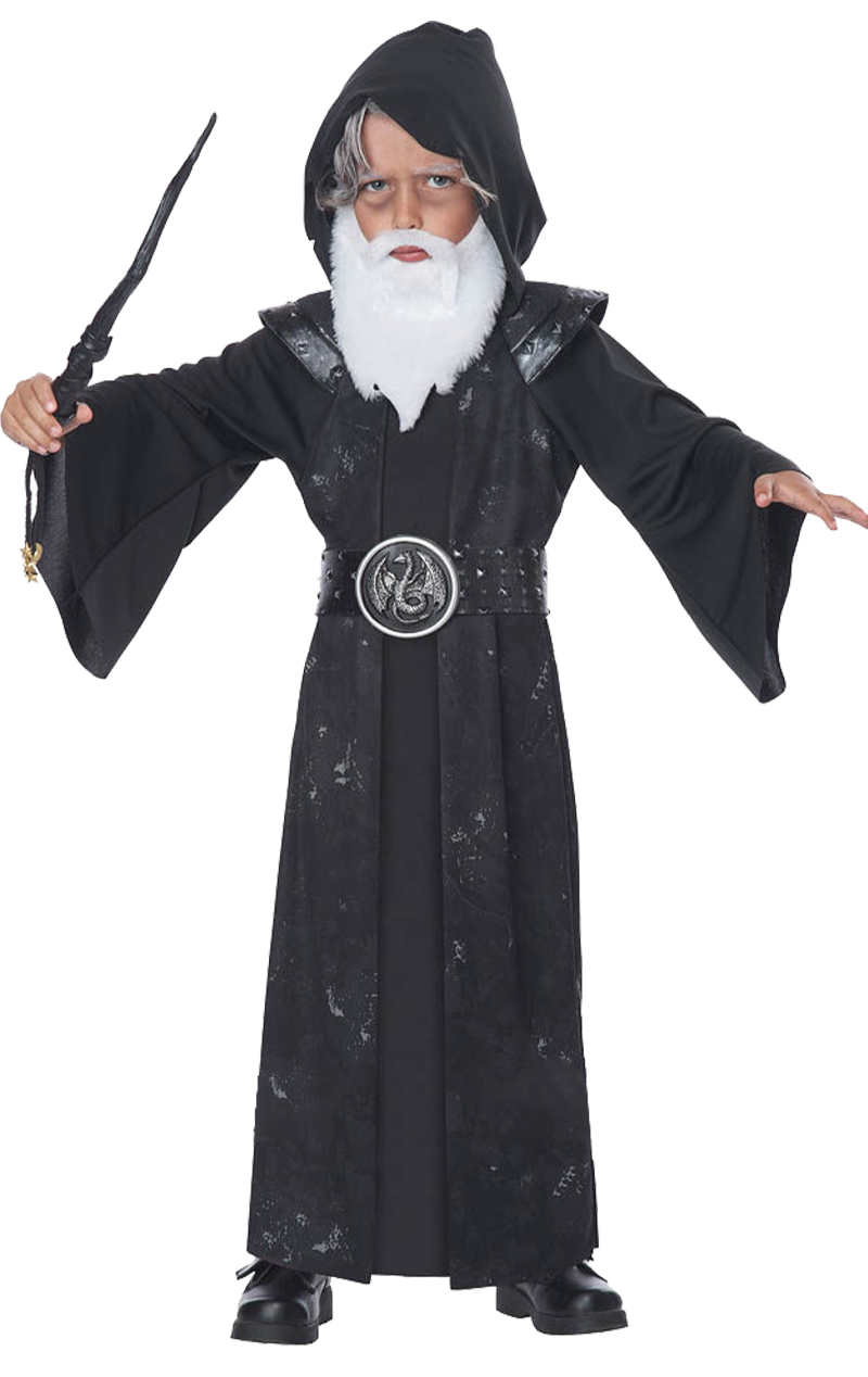 Boys Gothic Wizard Costume
