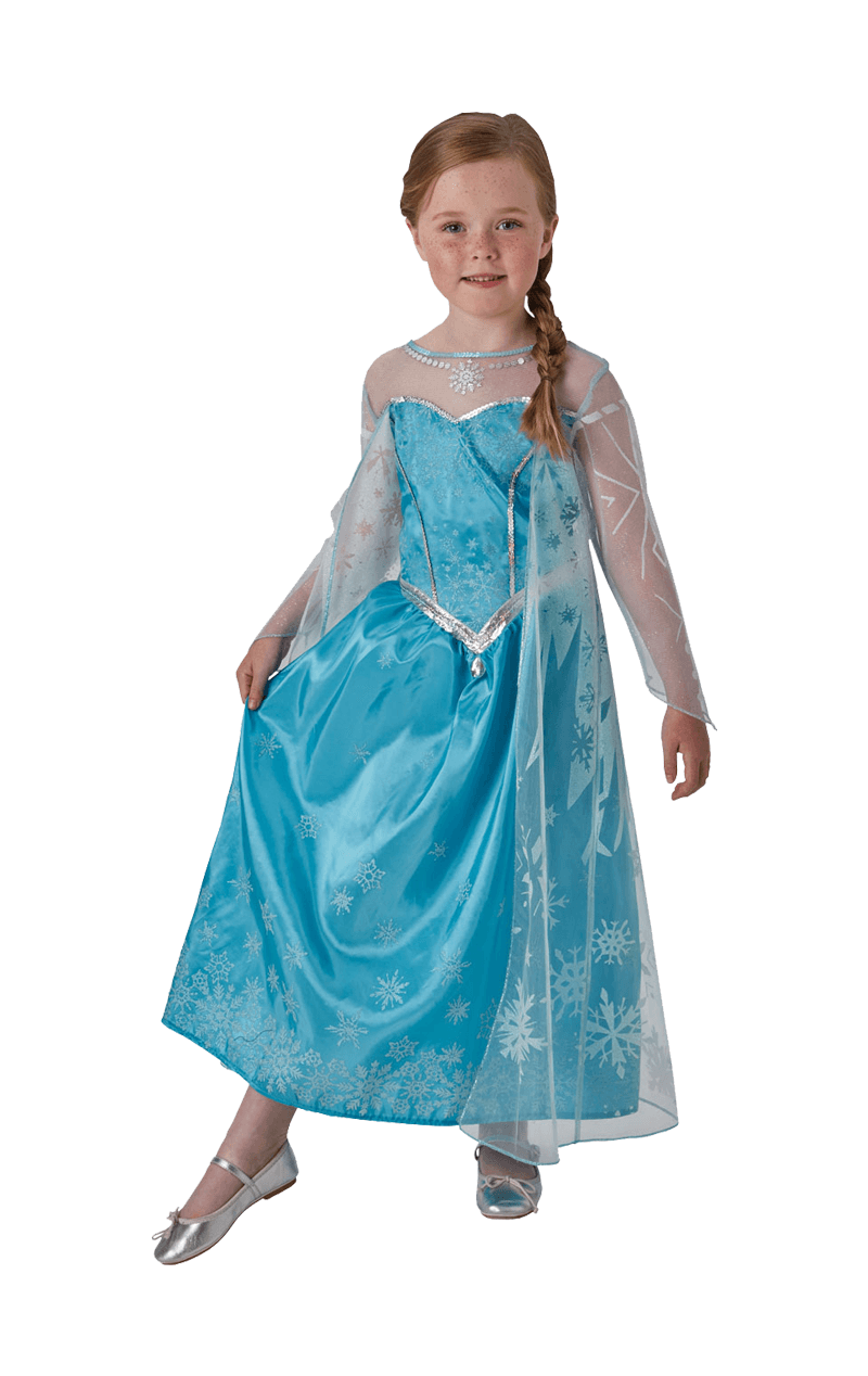Kids Queen Elsa Disney Frozen Costume