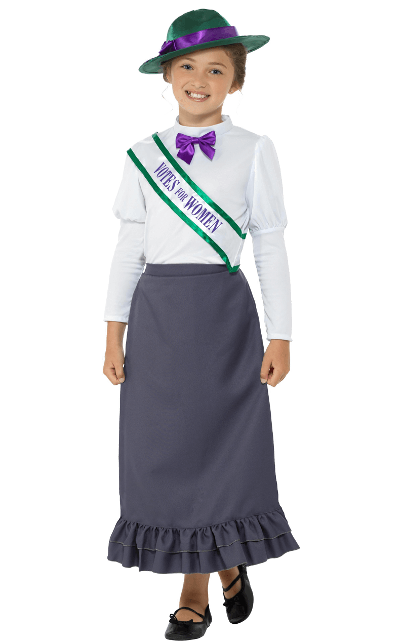 Girls Victorian Suffragette Costume