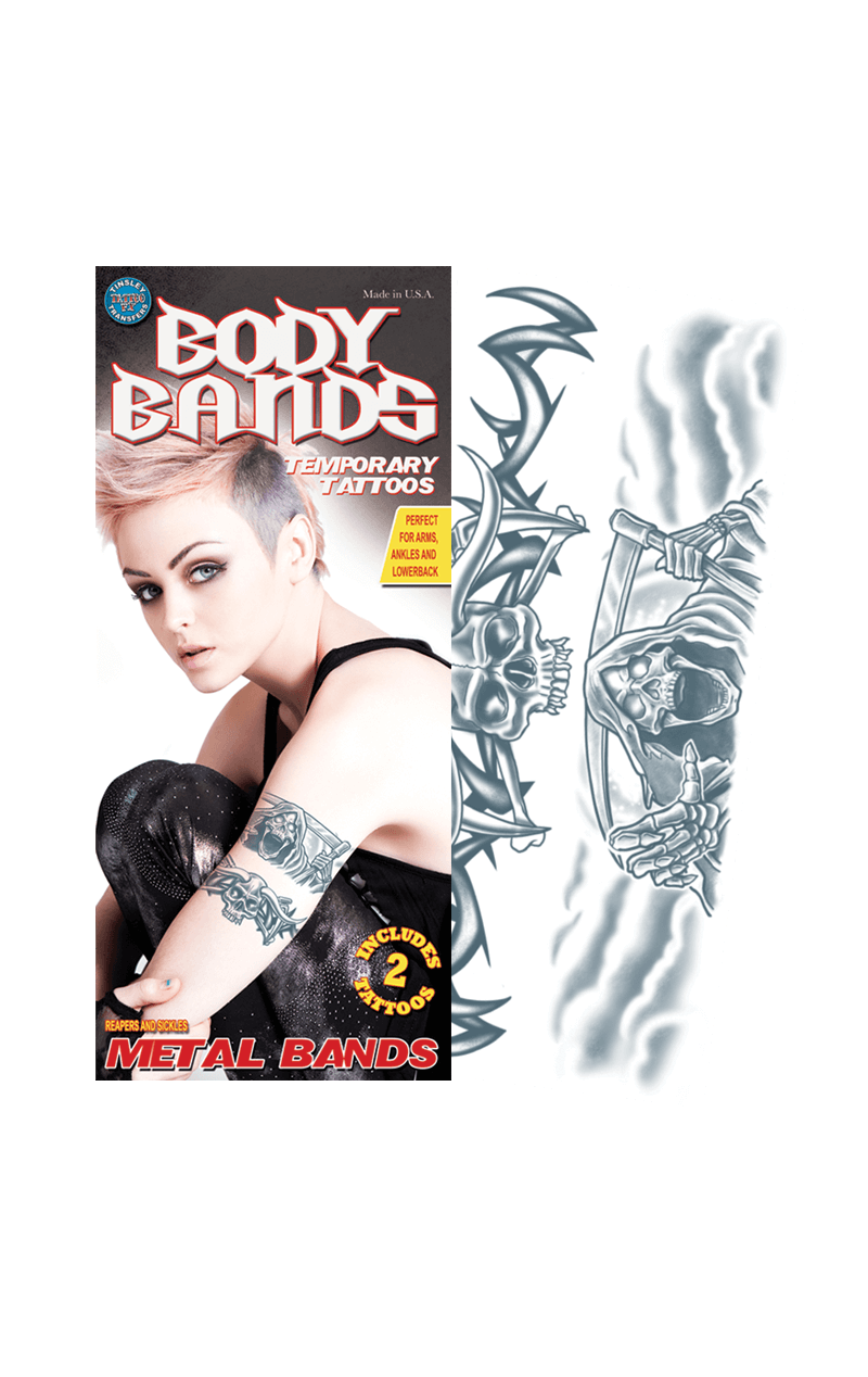 Reaper Body Band Temporary Tattoo