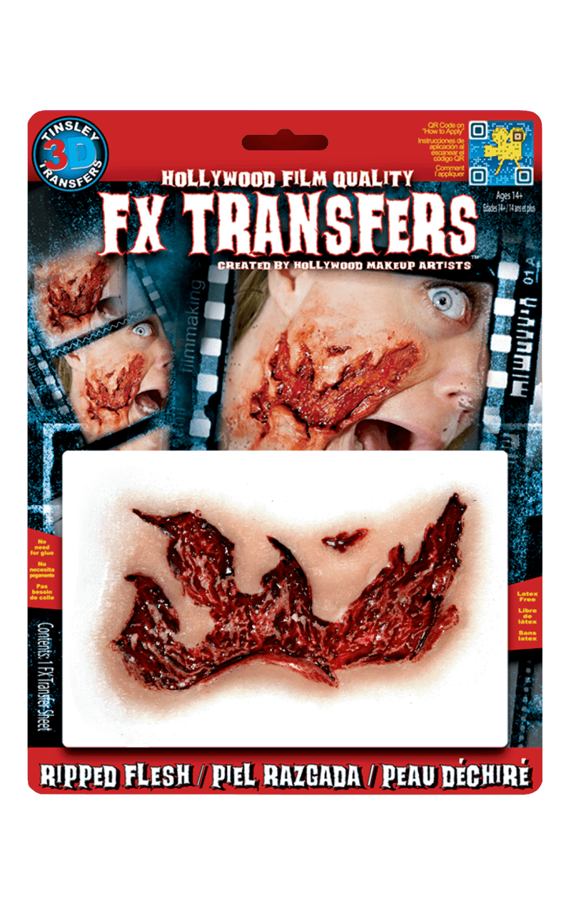 Bloody Ripped Flesh 3D FX Transfers