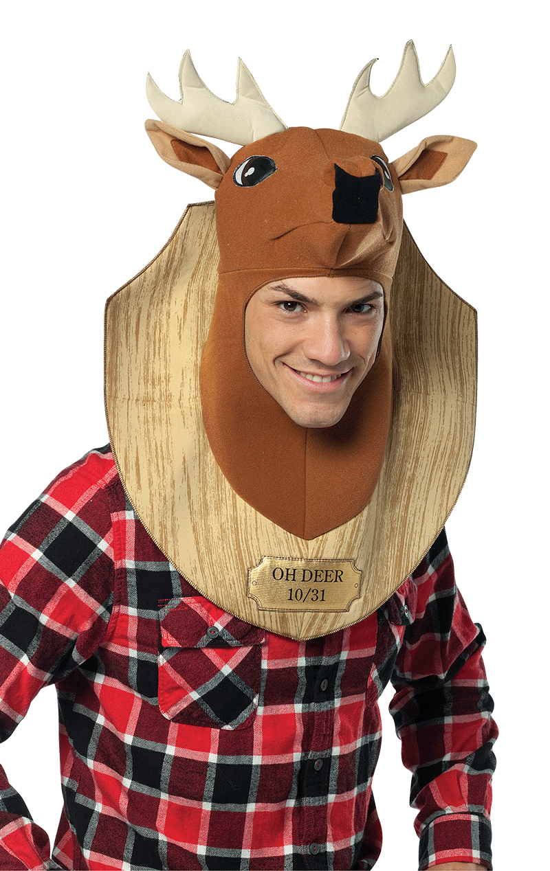 Adults Trophy Head Deer Hat