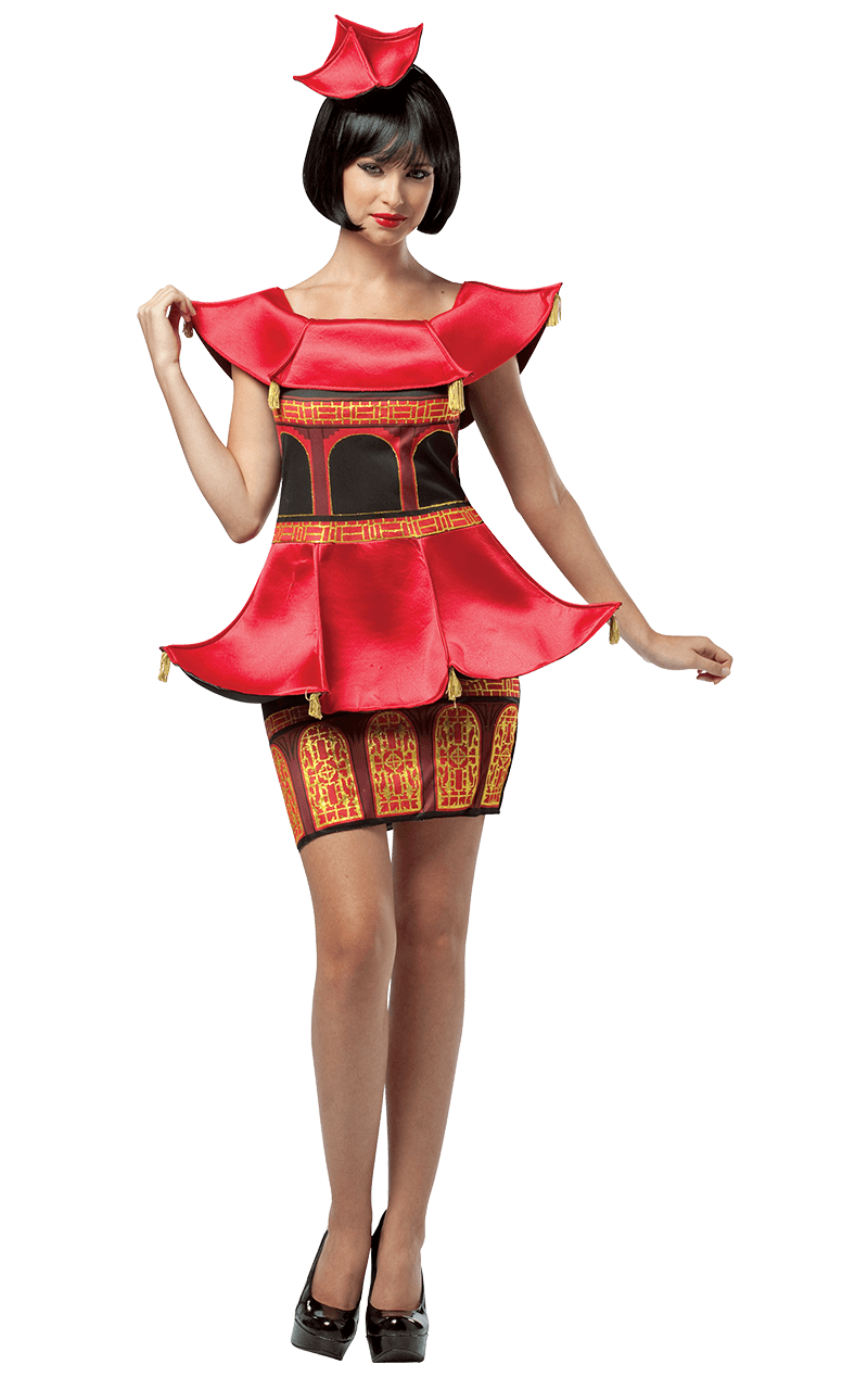 Ladies Asian Pagoda Dress Costume