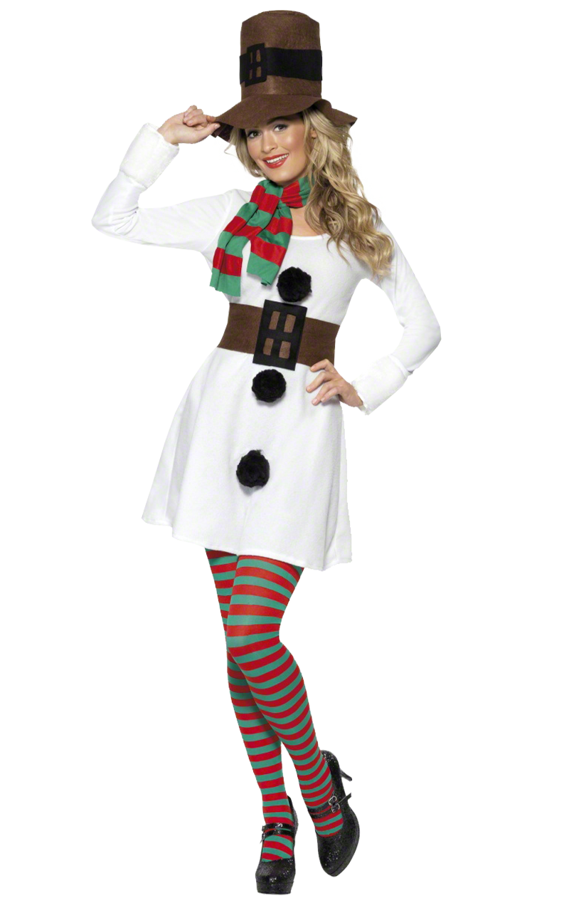 Adult Miss Snowman Costume