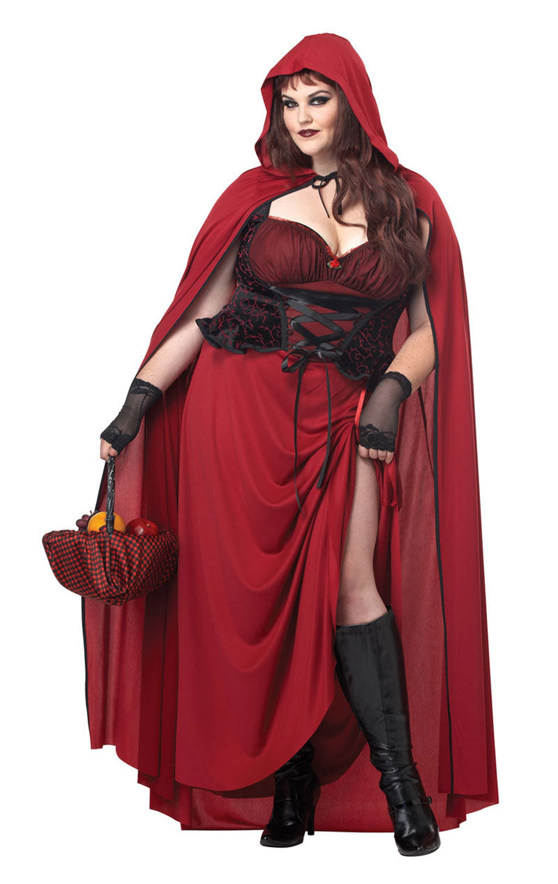 Dark Red Riding Hood Costume (Plus Size)