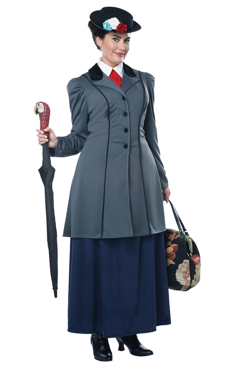 Womens Mary Poppins Plus Size Costume
