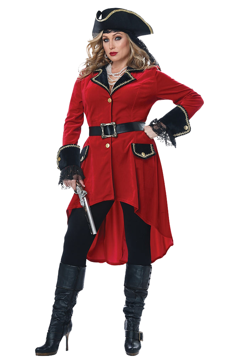 Womens Captain Hook Plus Size Costume