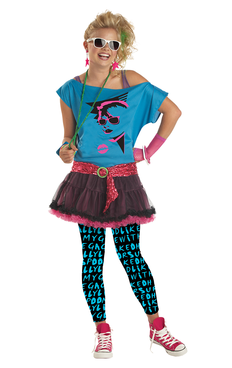 Teen 80s Valley Girl Costume