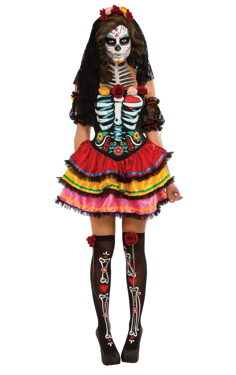 Womens Day of the Dead Senorita Costume