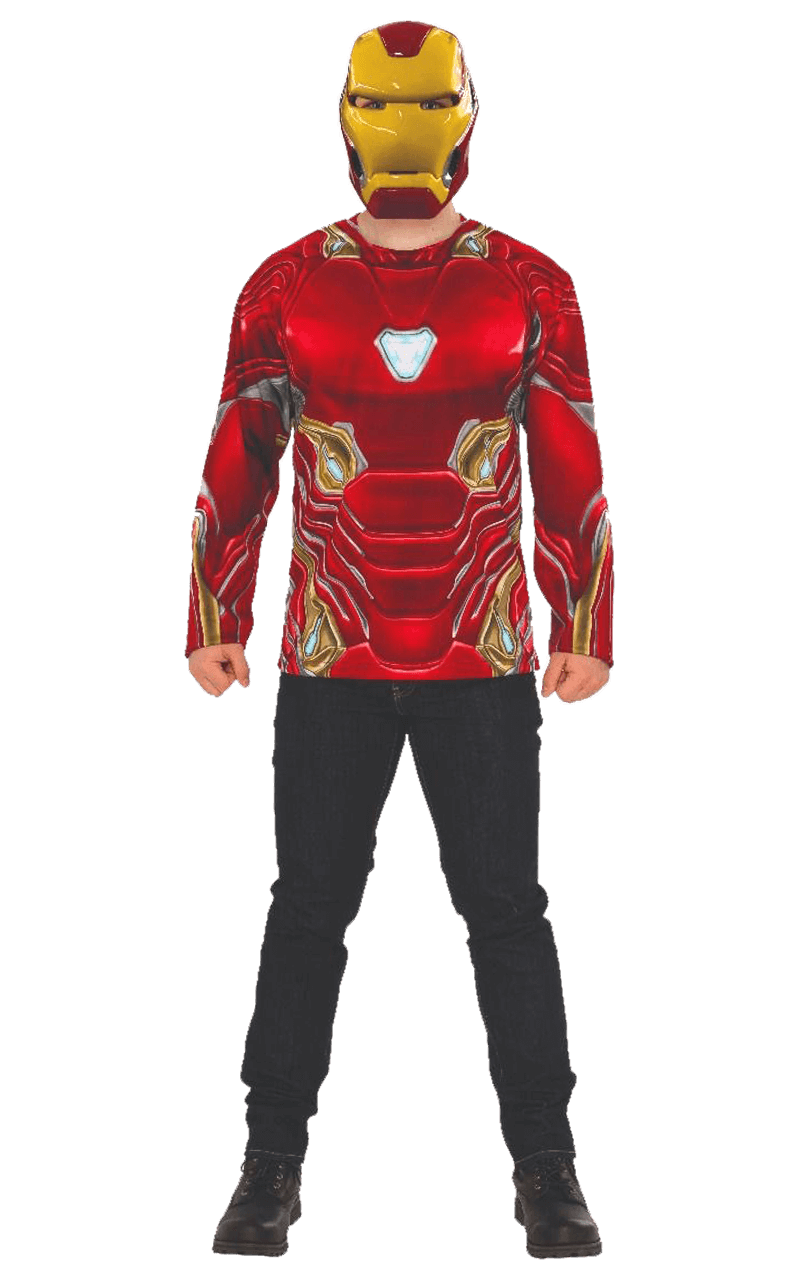 Adult Infinity War Iron Man Top and Facepiece