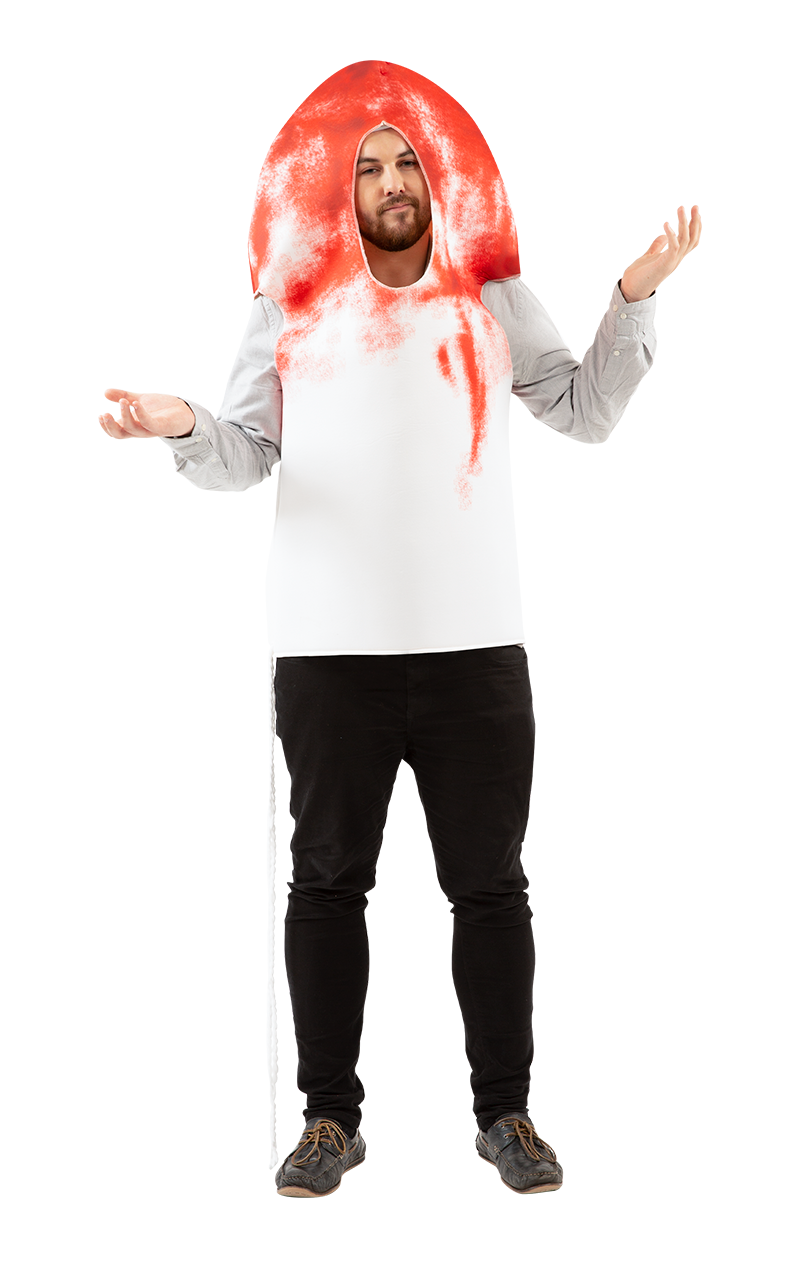 Mens Bloody Tampon Costume