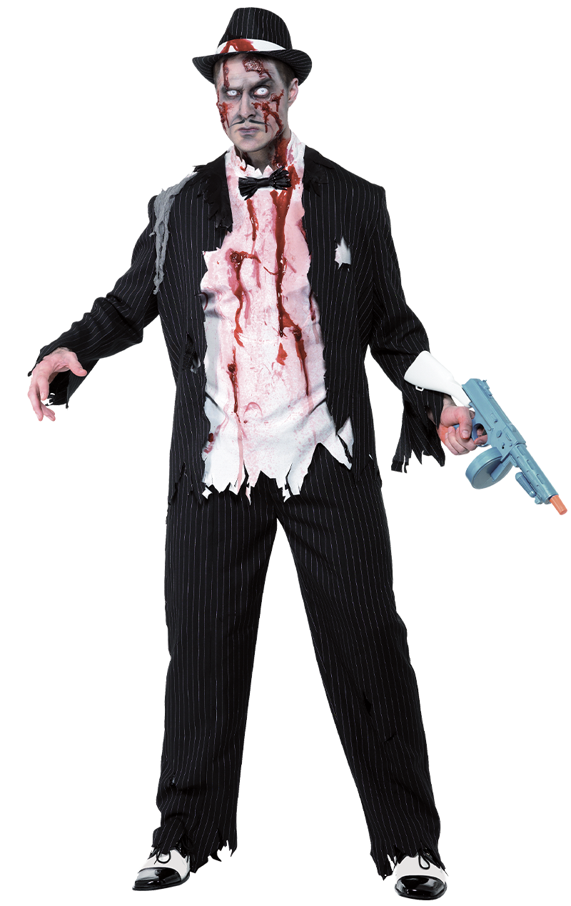 Adult Zombie Gangster Costume