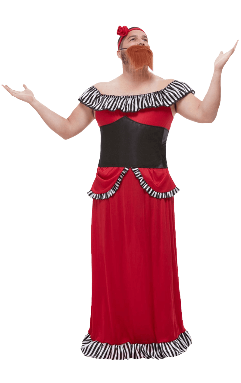 Mens Bearded Lady Costume