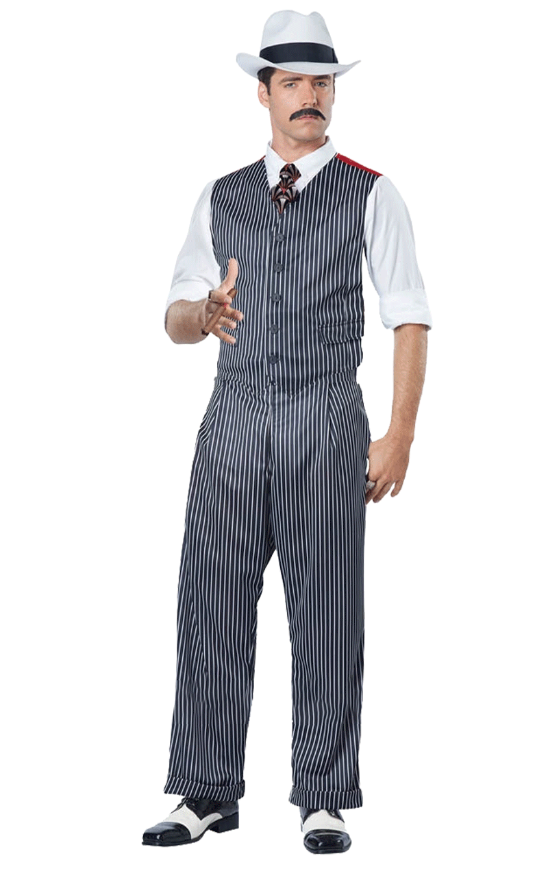 Mens 1920s Pinstripe Mobster Costume