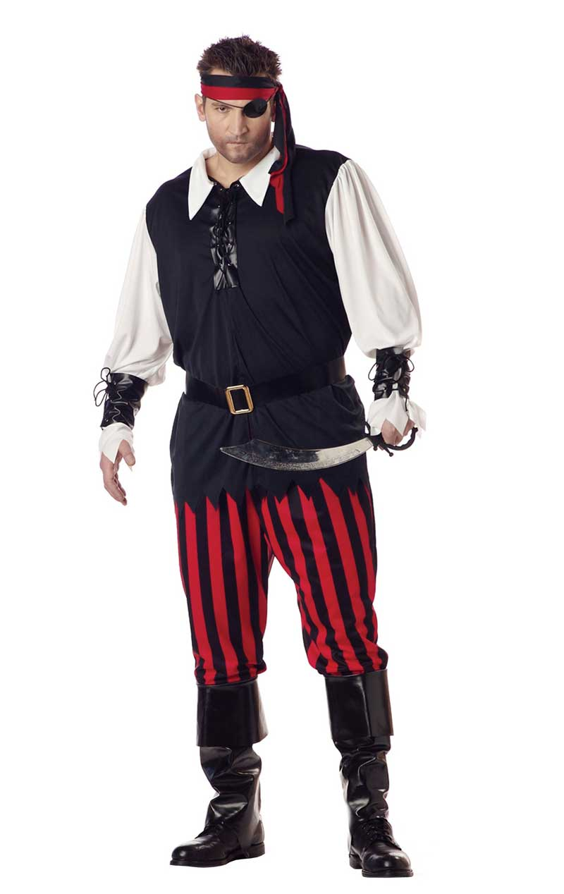 Mens Cutthroat Pirate Plus Size Costume