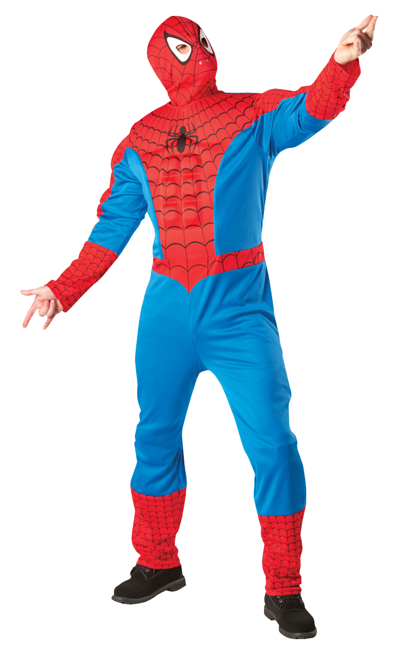 Adult Spider-Man Muscle Chest Costume