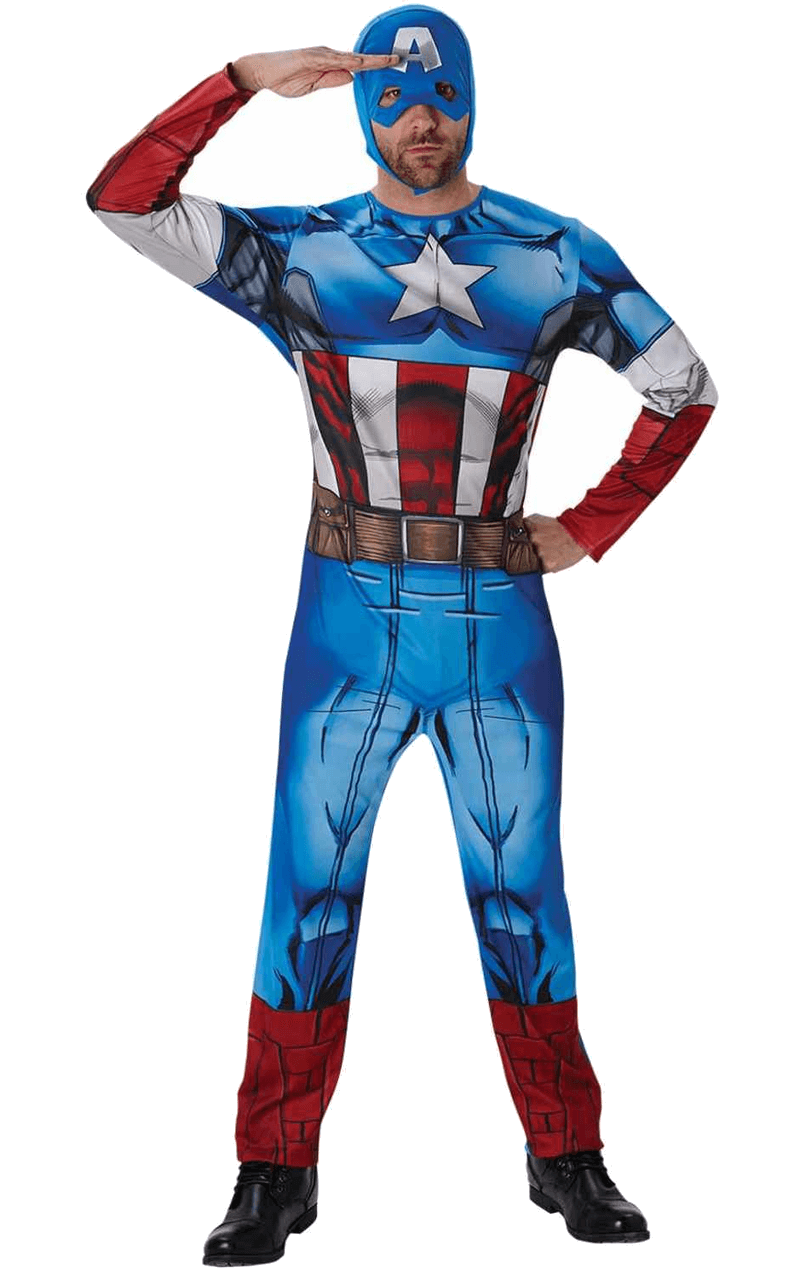 Adult Classic Captain America Costume