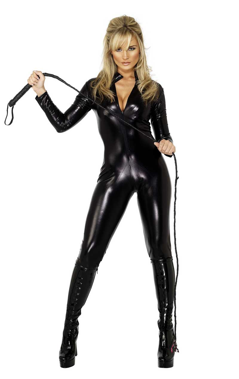 Womens Black Catsuit
