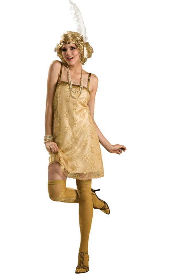Golden Gatsby Girl Costume
