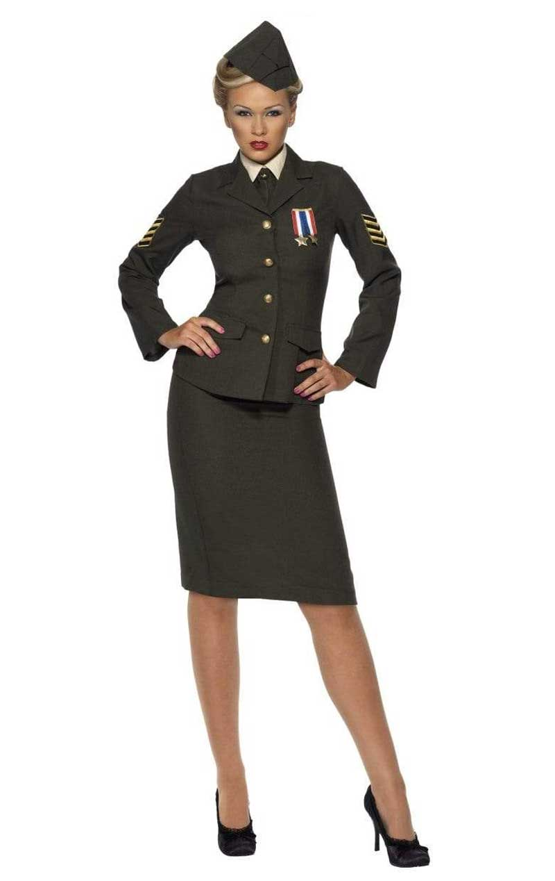 Adult Wartime Lady Officer Uniform Costume