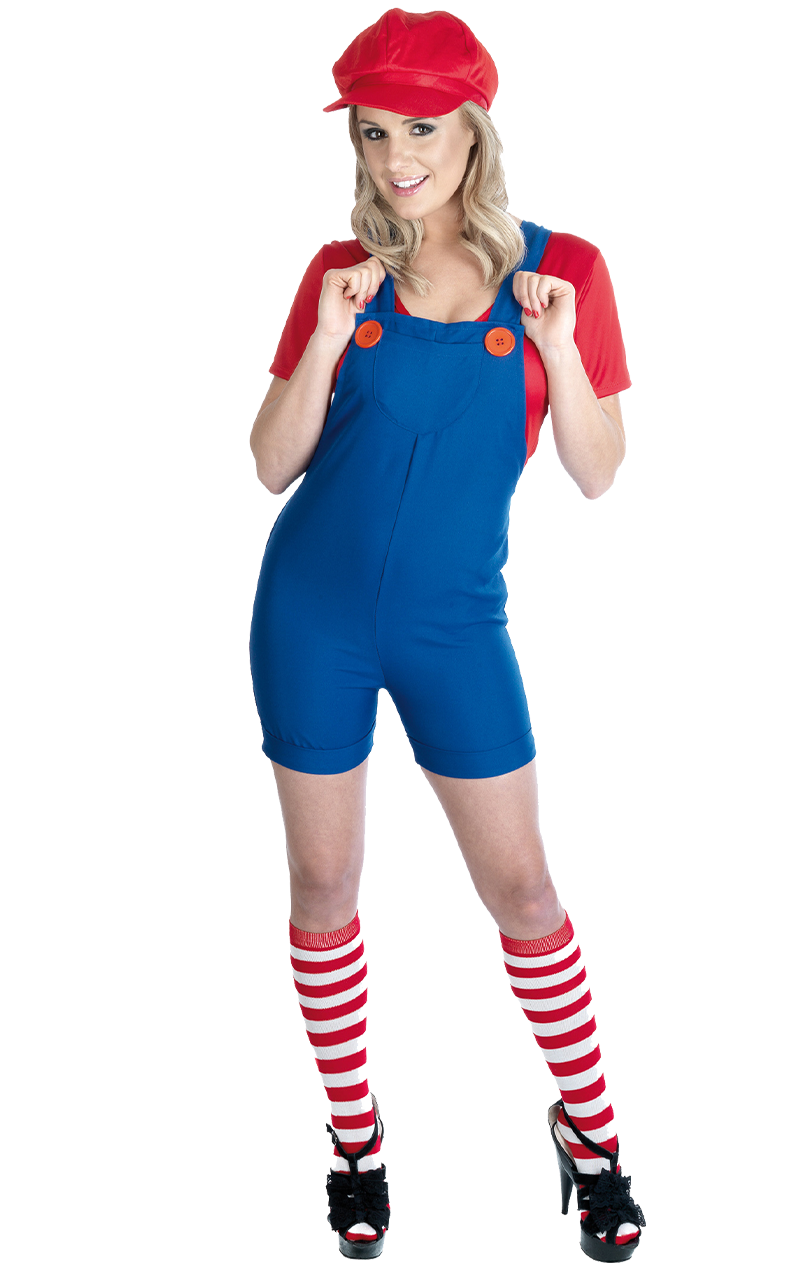 Womens Red Plumber Costume