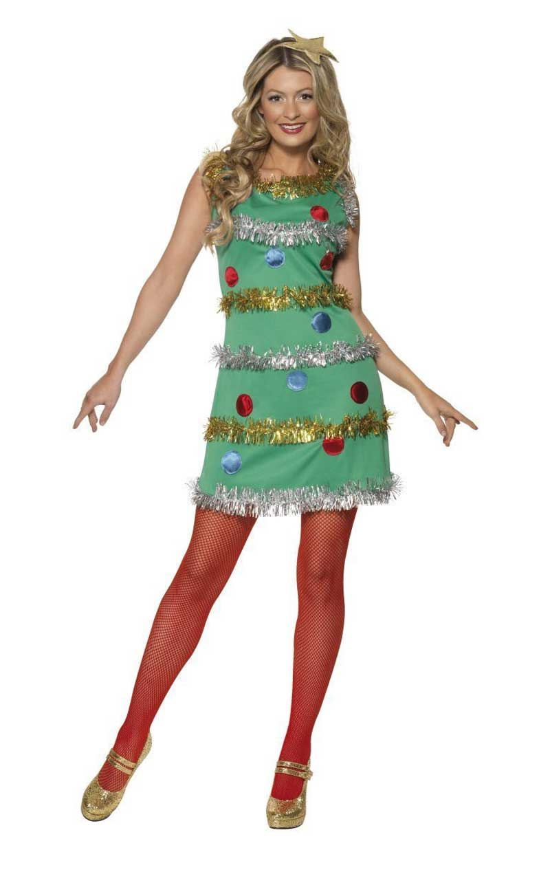 Womens Tinsel Christmas Tree Costume