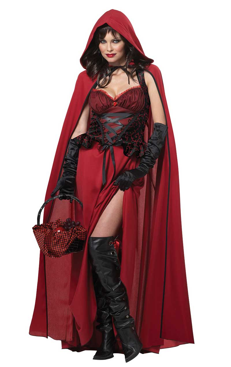 Adult Dark Red Riding Hood Costume