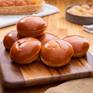 Brioche Hamburger Buns - Egg Glazed