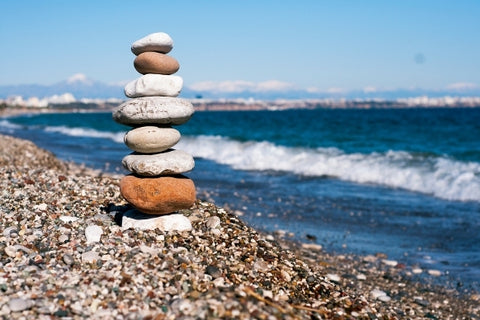Stacking pebbles
