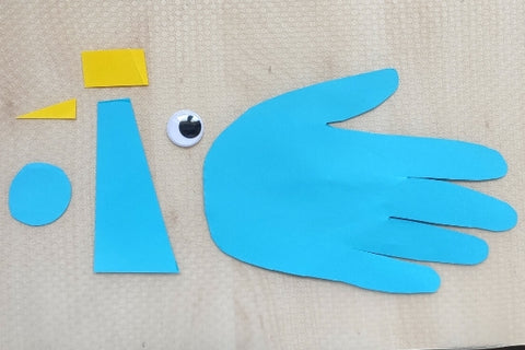 Cut out parts for the bird making