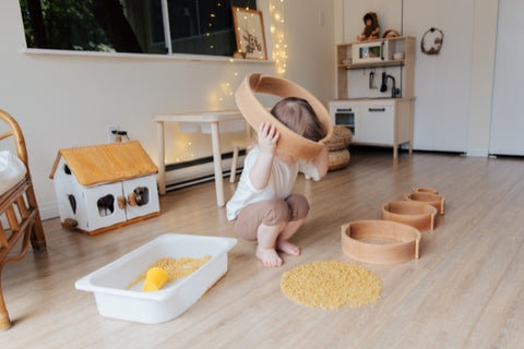 Child in a sensory play