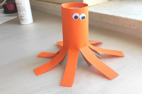 Octopus out of the toilet paper roll