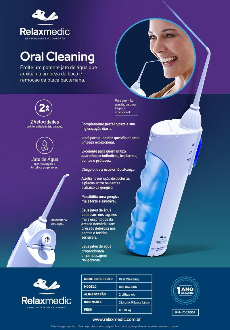 Irrigador Oral Cleaning Io6300A - Relaxmedic