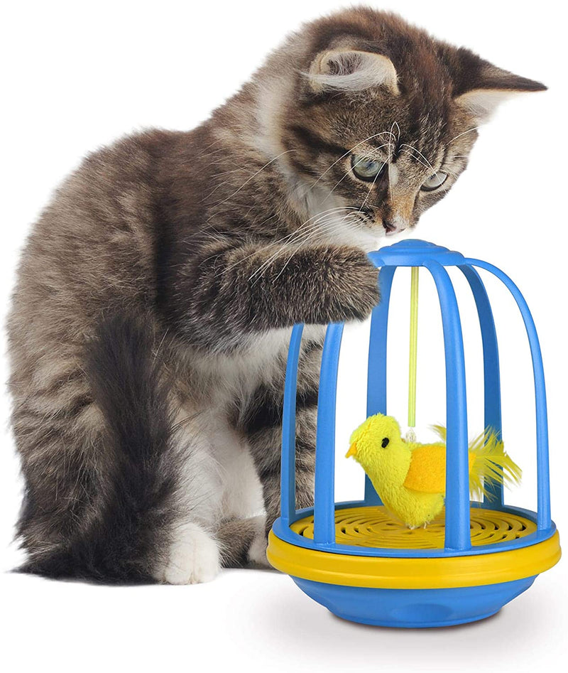 BIRD IN CAGE ELECTRONIC ACTION TOY