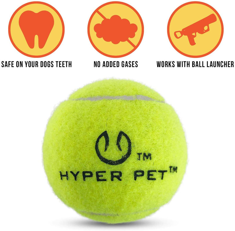 MINI TENNIS BALLS FOR DOGS - 4 PACK - GREEN