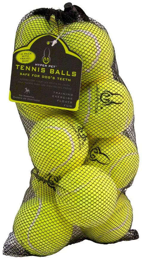 TENNIS BALLS FOR DOGS - 12 PACK - GREEN