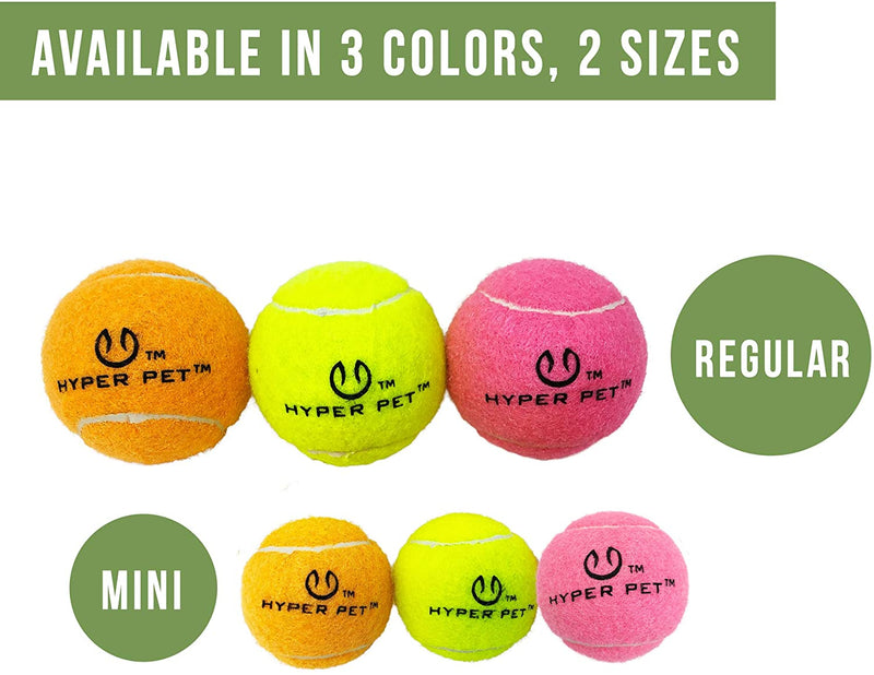MINI TENNIS BALLS FOR DOGS - 4 PACK - PINK